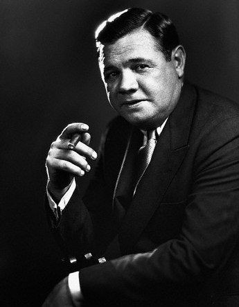 Babe Ruth with Cigar